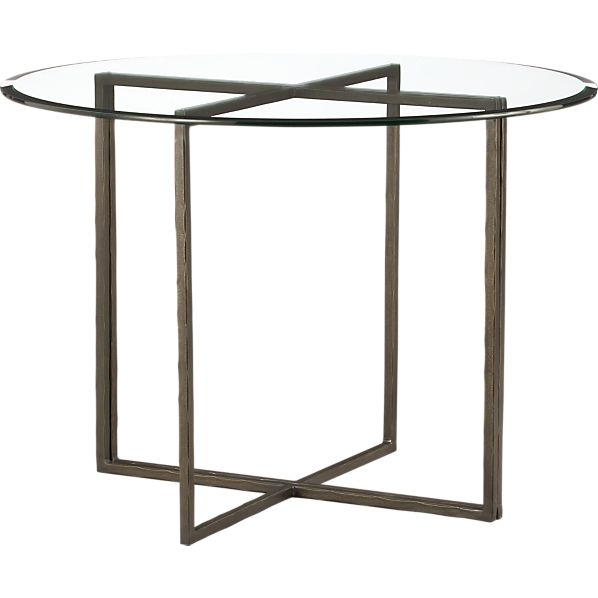 "Everitt 42"" Round Glass Top Dining Table"