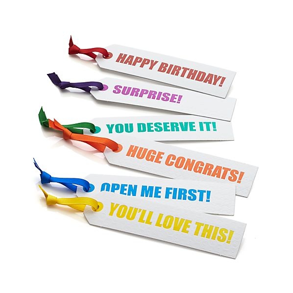 Set of 6 Everyday Gift Tags