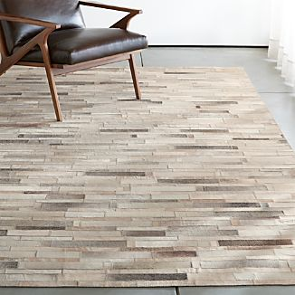 Ewing Striped Cowhide Rug