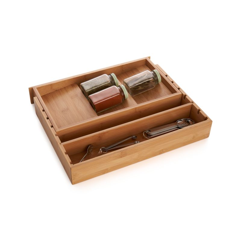 Expandable Bamboo Spice Organizer