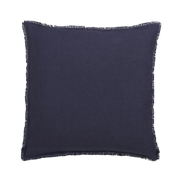 "Eyelash Navy 20"" Pillow with Down-Alternative Insert"
