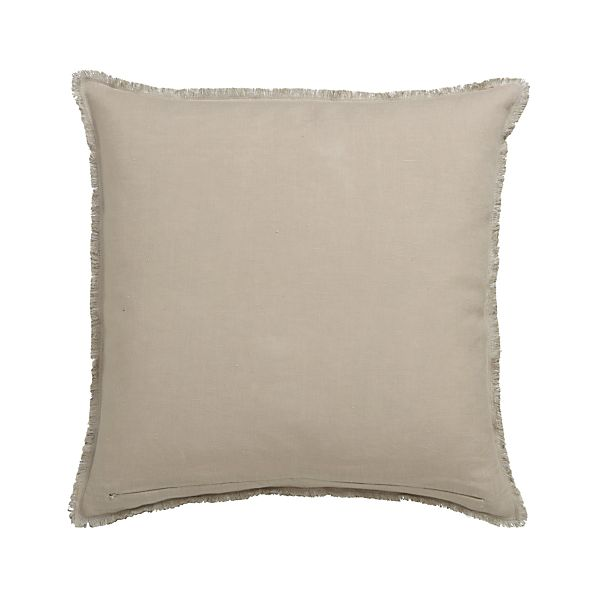 "Eyelash Putty and Neutral 20"" Pillow with Feather-Down Insert"