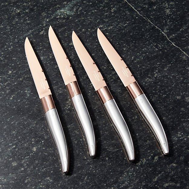 Fleischer and Wolf French Copper Steak Knives