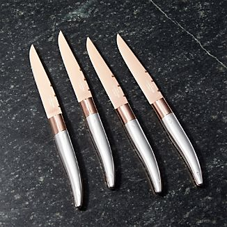 Fleischer and Wolf French Copper Steak Knives
