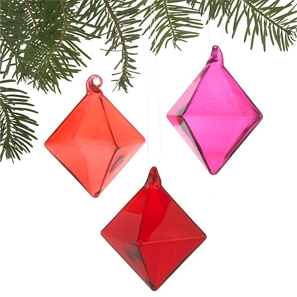 Set of 3 Facet Ornaments