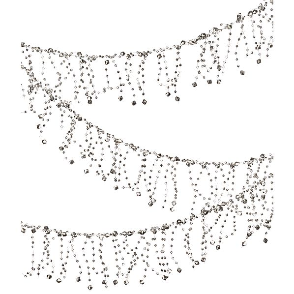 Silver Faceted Garland