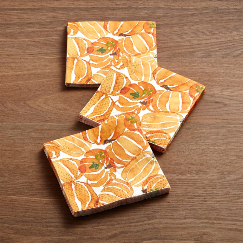Fall Harvest Paper Beverage Napkins Set of 20