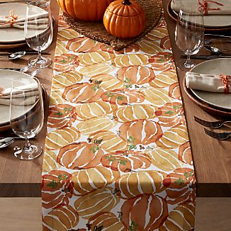 Fall Pumpkin Table Runner 90""