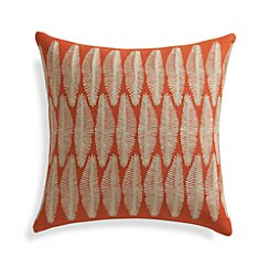 "Falvo 18"" Pillow with Feather-Down Insert"