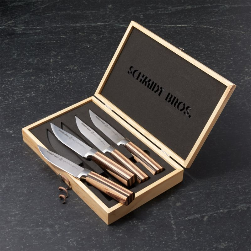 Schmidt Brothers ® Farmhouse Blend Jumbo Steak Knives Set of Four
