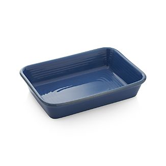 Farmhouse Rectangular Blue Baking Dish