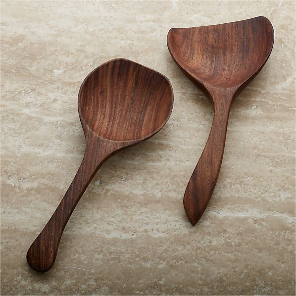 Farmhouse Wood Serving Spoons