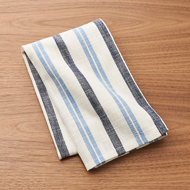 Farmhouse Blue Stripe Dish Towel