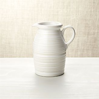 Farmhouse White Syrup Pitcher