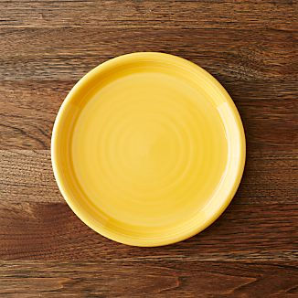 Farmhouse Yellow Salad Plate