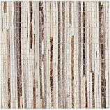 "Faust Striped Cowhide 12"" sq. Rug Swatch"