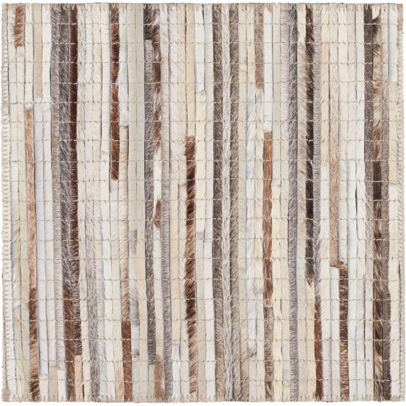 """Faust Striped Cowhide 12"""" sq. Rug Swatch"""