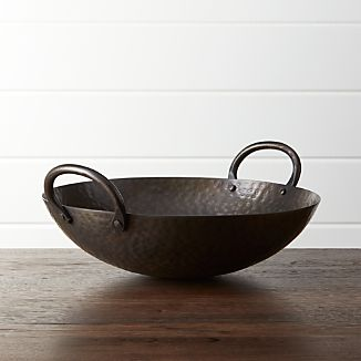 Feast Hammered Iron Serving Bowl
