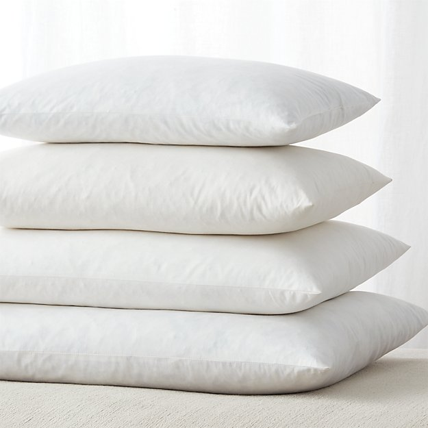 Feather down rectangular pillow inserts crate and barrel for Best down pillow inserts
