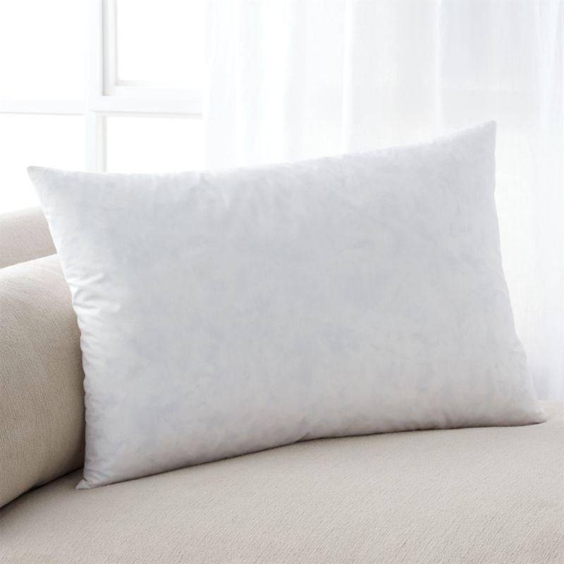 "Feather-Down 24""x16"" Pillow Insert"