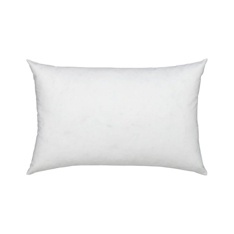 Plump up an accent pillow cover with a plush blend of duck feathers and down. Cotton cambric shell. Overlocked safety stitching finishes the edges. Bed pillows also available.<br /><br /><NEWTAG/><ul><li>100% cotton cambric cover, 180-thread-count</li><li>95% duck feather, 5% down fill</li><li>Machine wash, tumble dry low</li><li>For best results, professional laundering is recommended</li><li>Made in Thailand</li></ul>