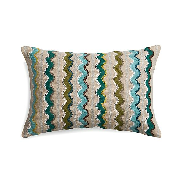 """Feleti 18""""x12"""" Pillow with Feather-Down Insert"""
