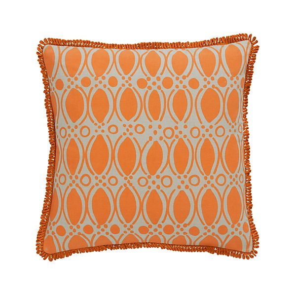 """Felicia 18"""" Pillow with Feather-Down Insert"""