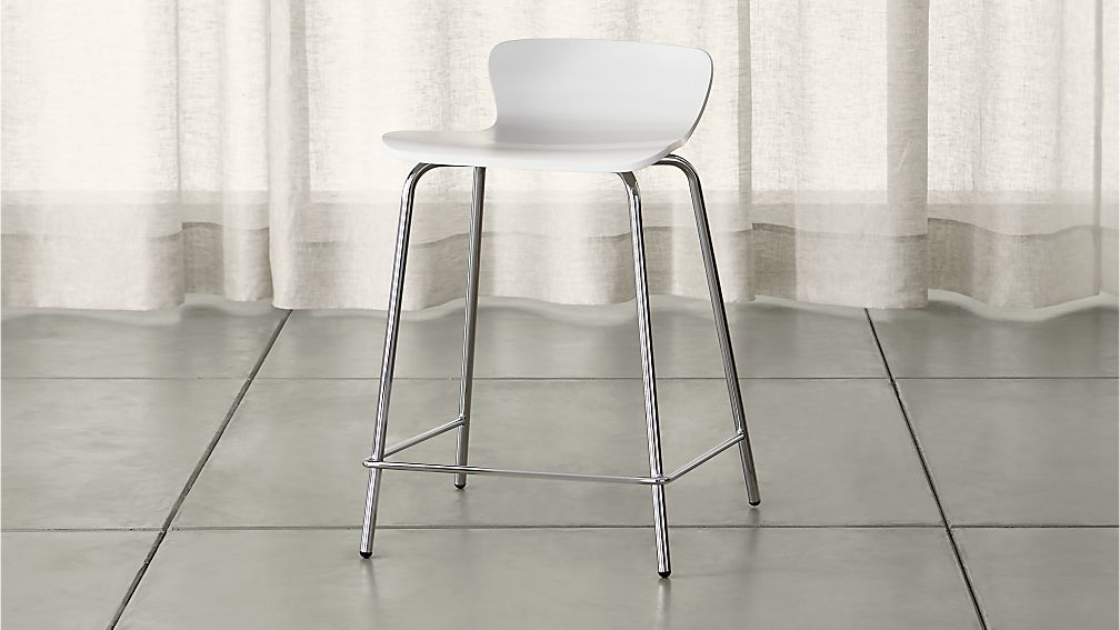 Felix White Counter Stool Crate And Barrel