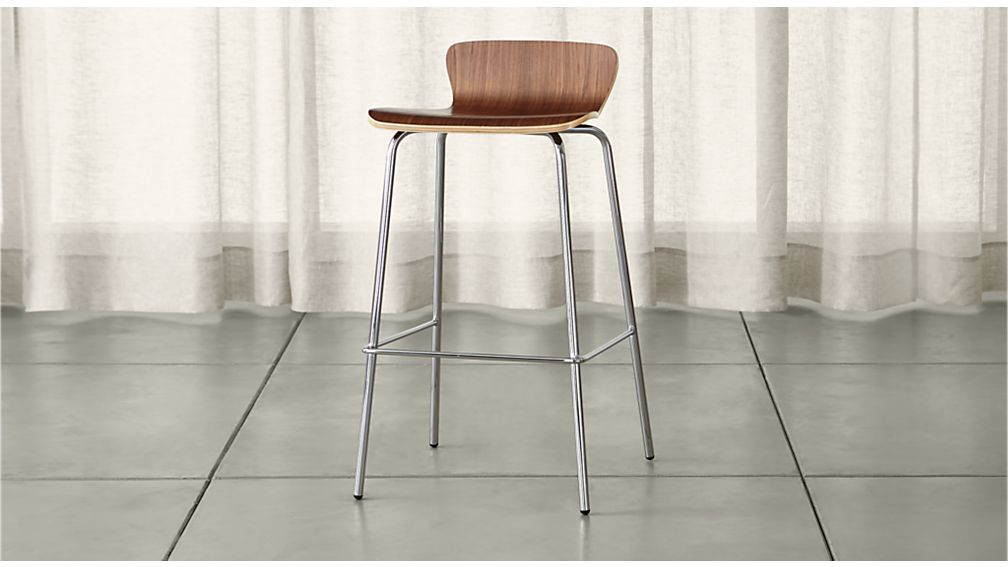 Felix Walnut Bar Stool