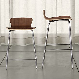 Bar Stools Wooden Metal Leather And Upholstered Crate