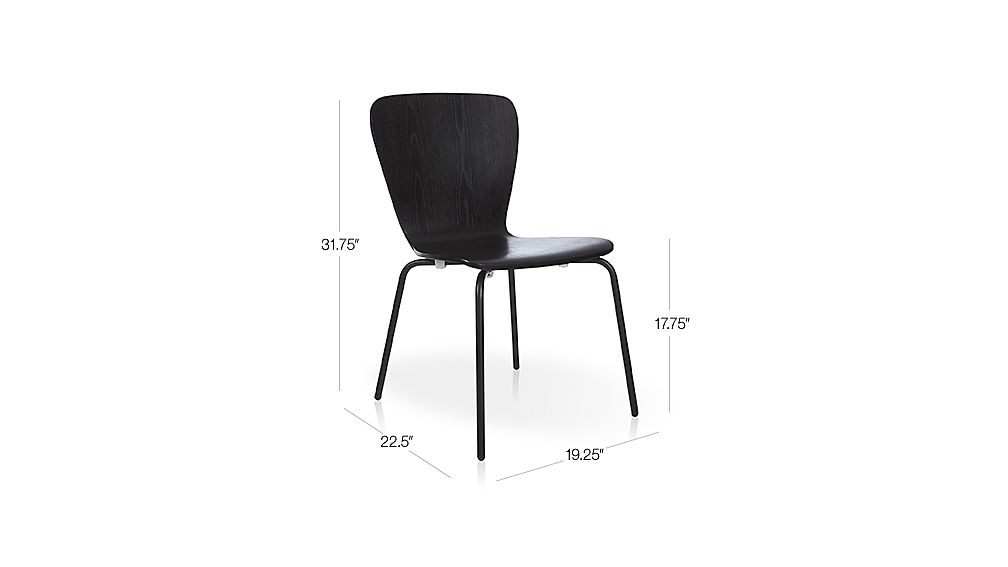 Felix Black Dining Chair Crate And Barrel