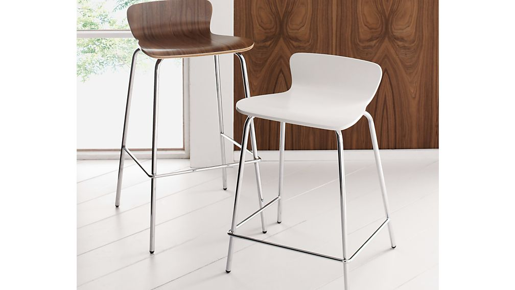 Felix Walnut Counter Stool Crate And Barrel