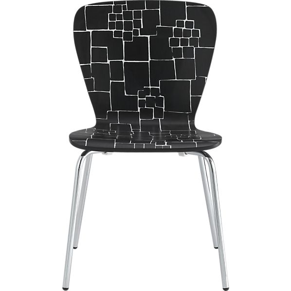 Felix Black-White Pattern Side Chair