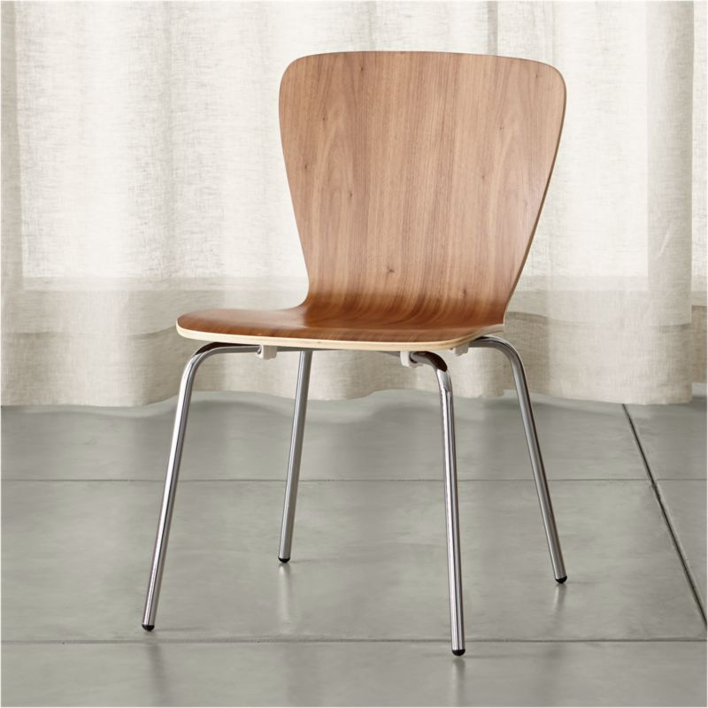 Crate And Barrel Dining Room Chairs: Felix Walnut Dining Chair