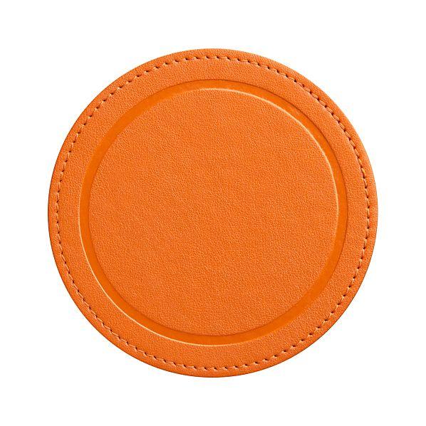 Feliz Orange Coaster