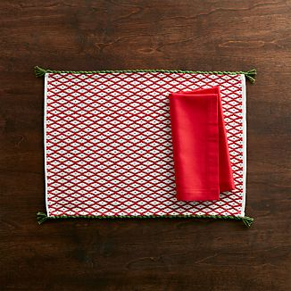 Feliz Placemat and Fete Cherry Napkin
