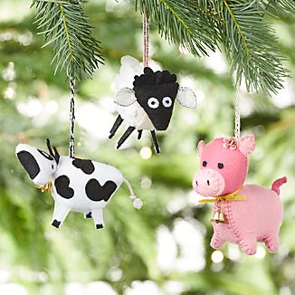 Farm Friend Felt Ornaments