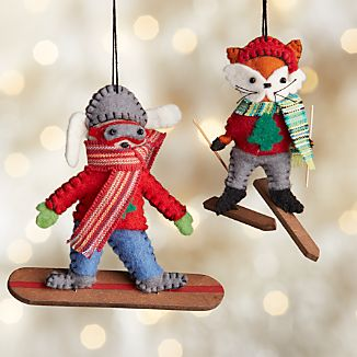 Winter Sports Animal Ornaments