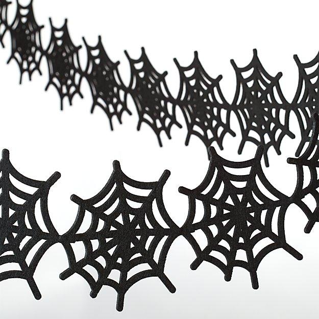 Felt Spiderweb Halloween Garland