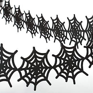 Felt Spiderweb Halloween Garland