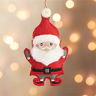 Felted Santa Ornament