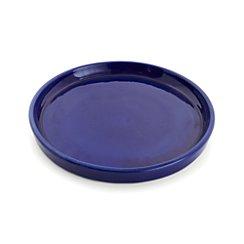 Festive Large Cobalt Saucer