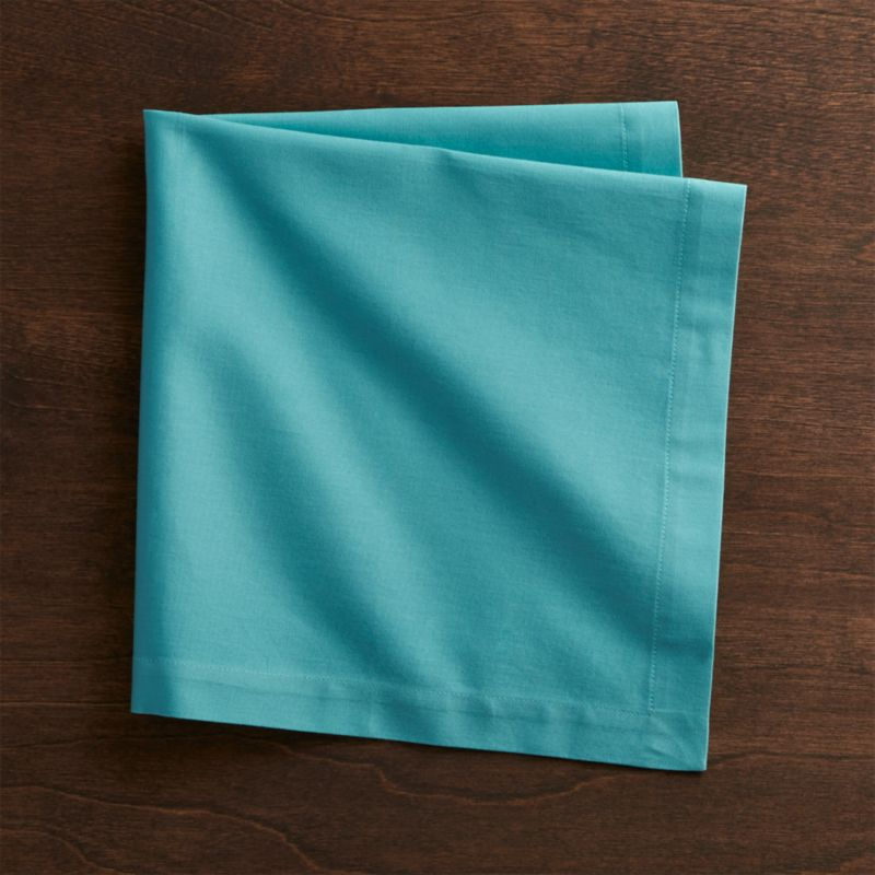 Fete Aqua Blue Cloth Napkin : Crate and Barrel