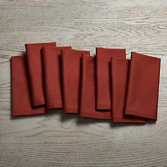 Fete Barn Red Cotton Dinner Napkins Set of Eight
