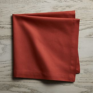 Fete Barn Red Cotton Dinner Napkin