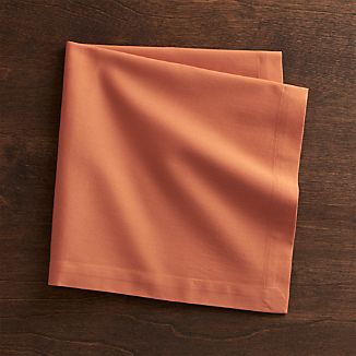 Fete Coral Orange Cloth Napkin