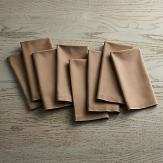 Set of 8 Fete Brindle Brown Cloth Napkins