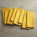 Set of 8 Fete Mustard Yellow Cloth Napkins
