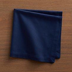 Set of 8 Fete Blue Cotton Napkins