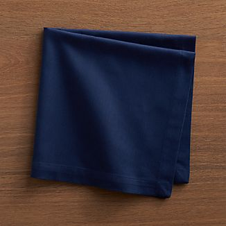 Set of 8 Fete Blue Cotton Napkins